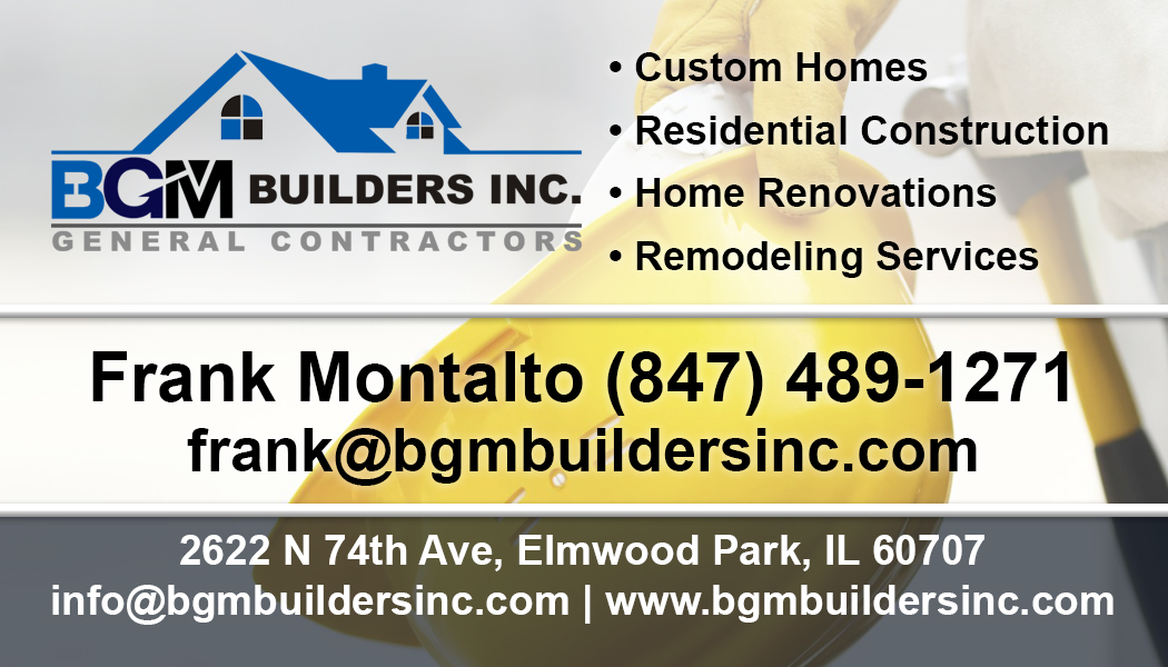 BGM General Contractors & Builders, Inc. - Business Card